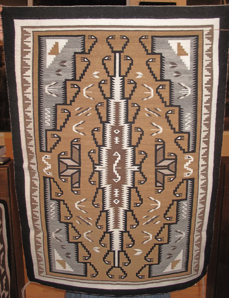 Edith Yazzie Two Grey Hills Tapestry